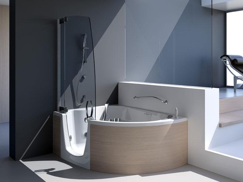 vasca da bagno con gradini il combinato di teuco