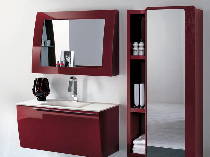 Rosso artesi - Arredo bagno rosso ...