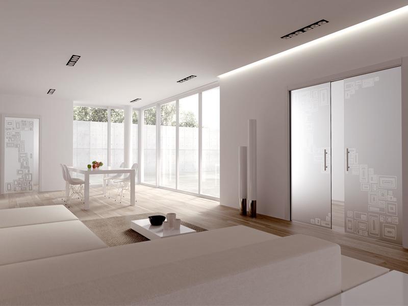 Nuova gamma di decori per le porte tutto vetro eclisse - Porte di vetro scorrevoli per interni ...