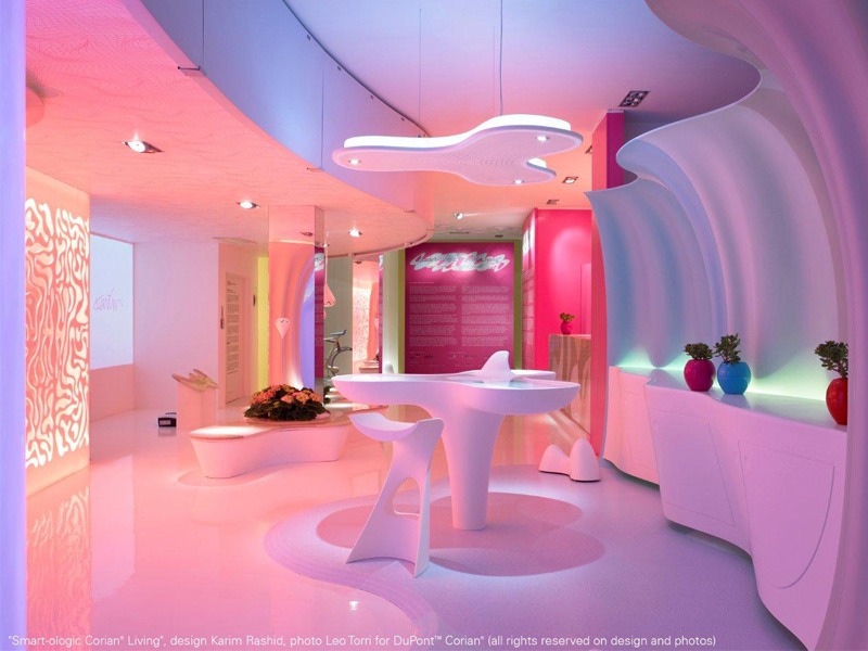 """Il progetto """"smart ologic corian ® living"""" raccontato da karim rashid"""