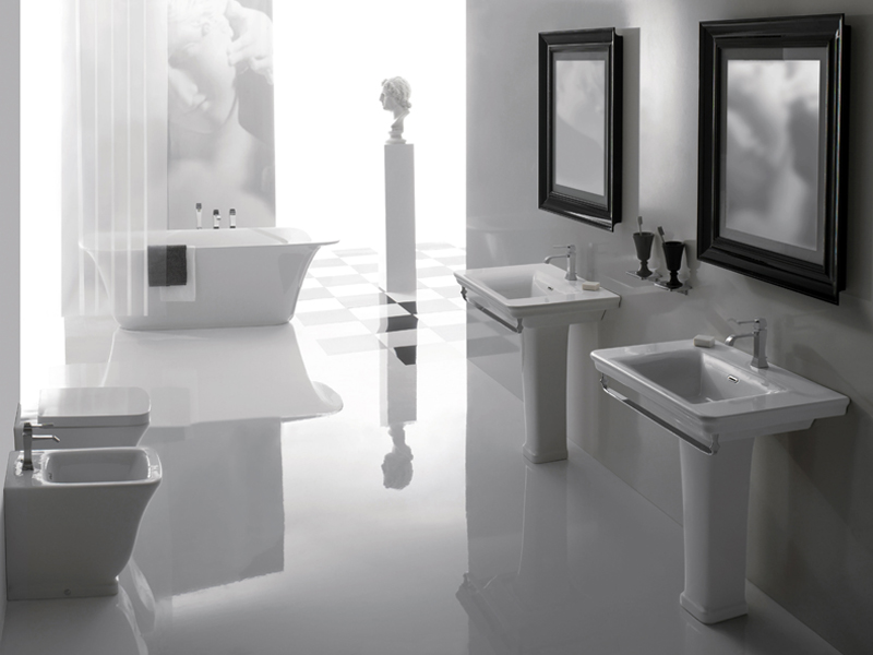 Forme squadrate e angoli arrotondati per relais di ceramiche globo - Mobili bagno globo ...