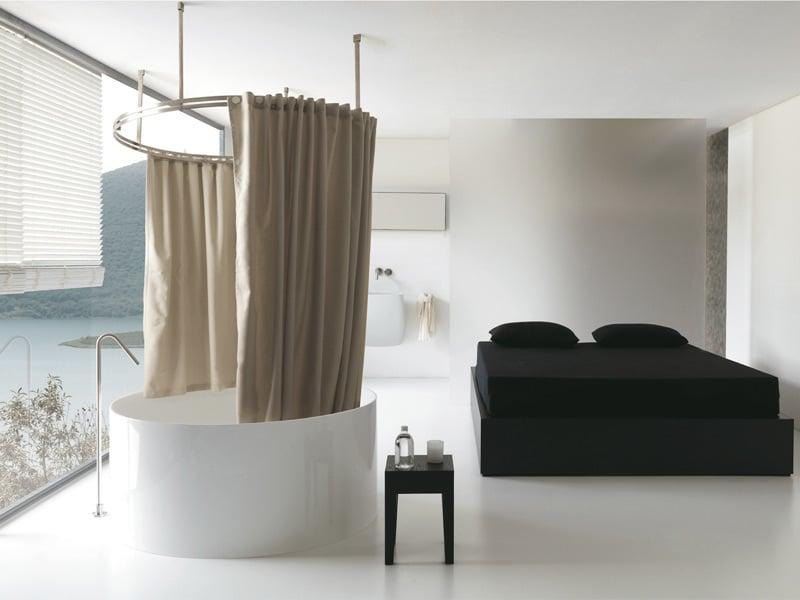 Colacril presenta la tenda vasca doccia disegnata da for Tende per doccia