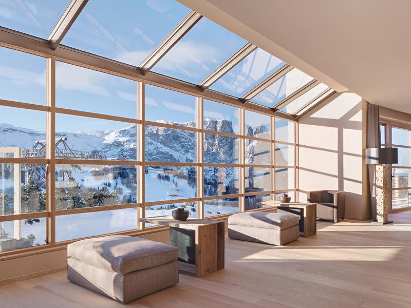 I serramenti finstral per hotel alpina dolomites for Design hotel 1860 rendsburg
