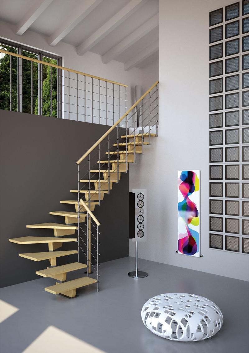 Timber ed exterior zink le scale modulari di rintal - Modelos de escaleras de casas ...