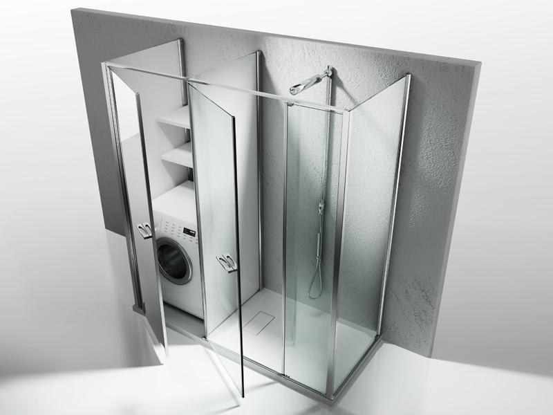 Cersaie 2011 vismaravetro presenta twin - Doccia con vasca piccola ...