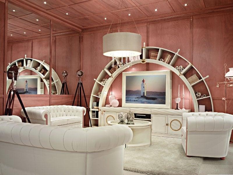 Lo stile vecchia marina ai saloni 2012 for Arredamento stile marinaro