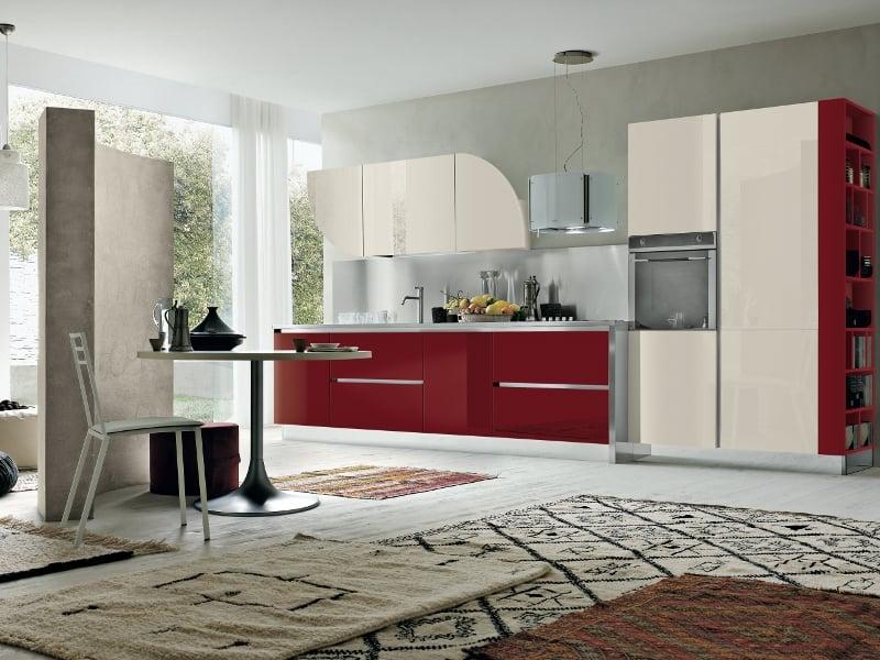 Stosa cucine presenta allegra a eurocucina - Cucina bordeaux ...