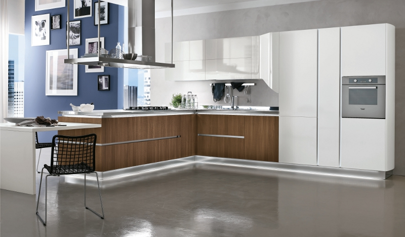 Stosa cucine presenta allegra a eurocucina for Contemporary kitchen style