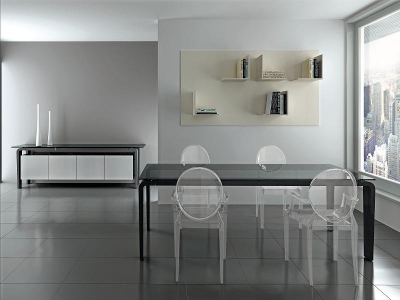 Il Mobile Libreria Liber 0 Di Ronda Design : Acciaio cristallo legno e carbonio per ronda design