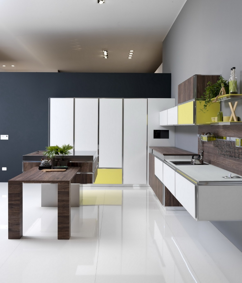 aran cucine e le nuove proposte ai saloni. Black Bedroom Furniture Sets. Home Design Ideas