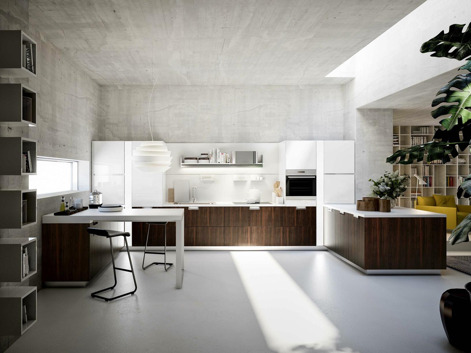 Lux la cucina di snaidero disegnata da pietro arosio for Design keukens
