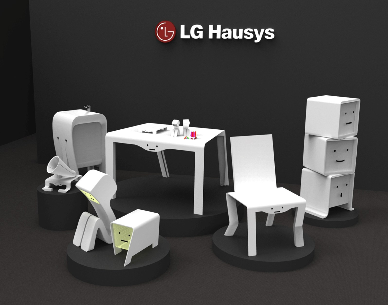 hi macs di lg hausys al fuorisalone di milano. Black Bedroom Furniture Sets. Home Design Ideas