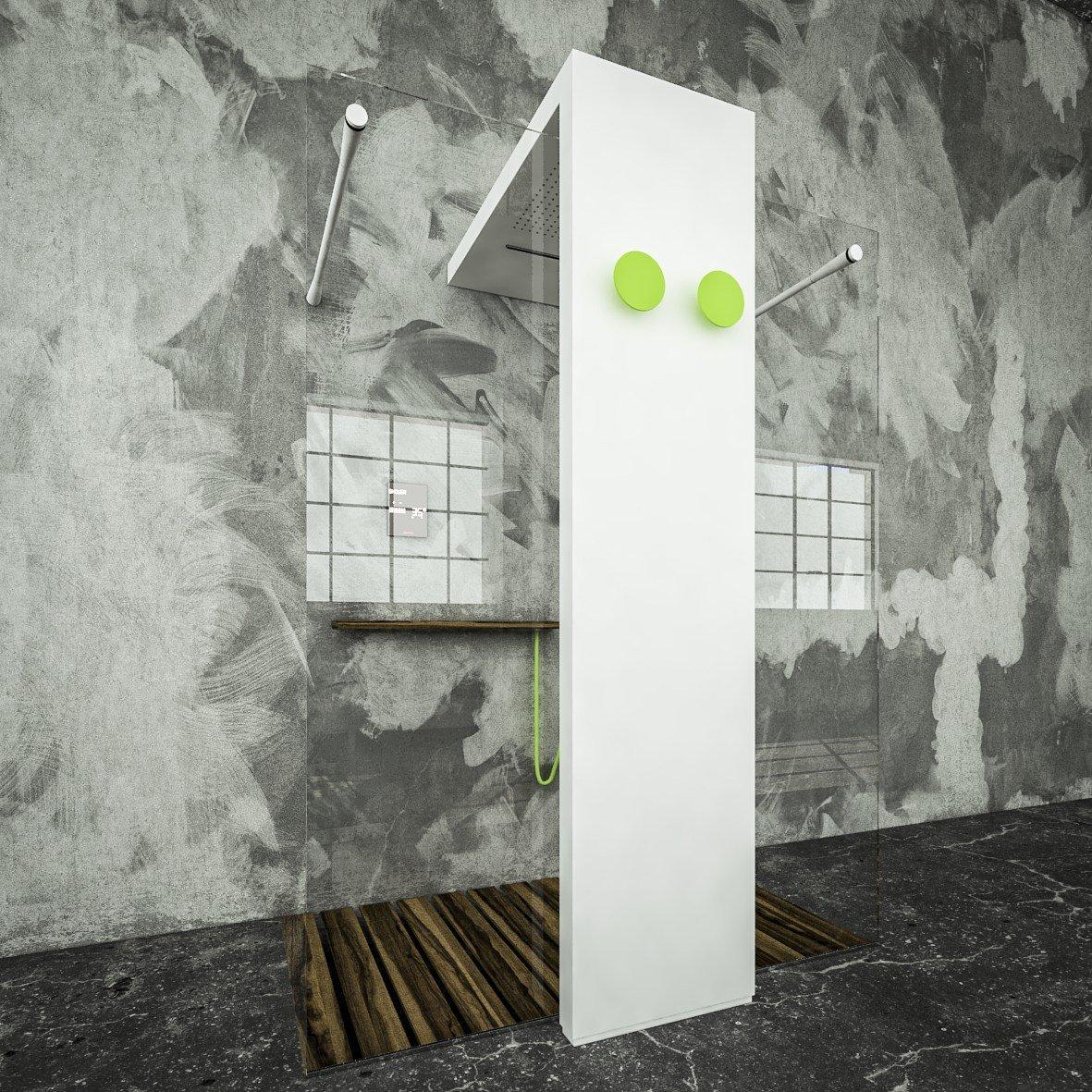 Monolite light di brandoni al salone del bagno 2014 for Termoarredo salone