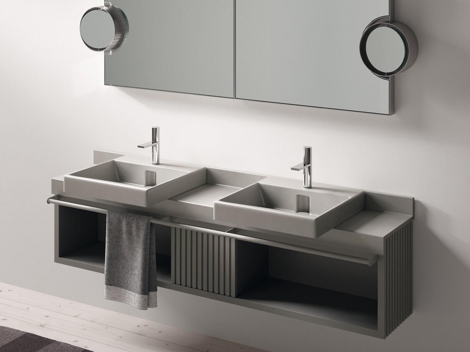 Il nuovo piano lavabo doppio in ceramica di cielo - Mobile bagno profondita 35 ...