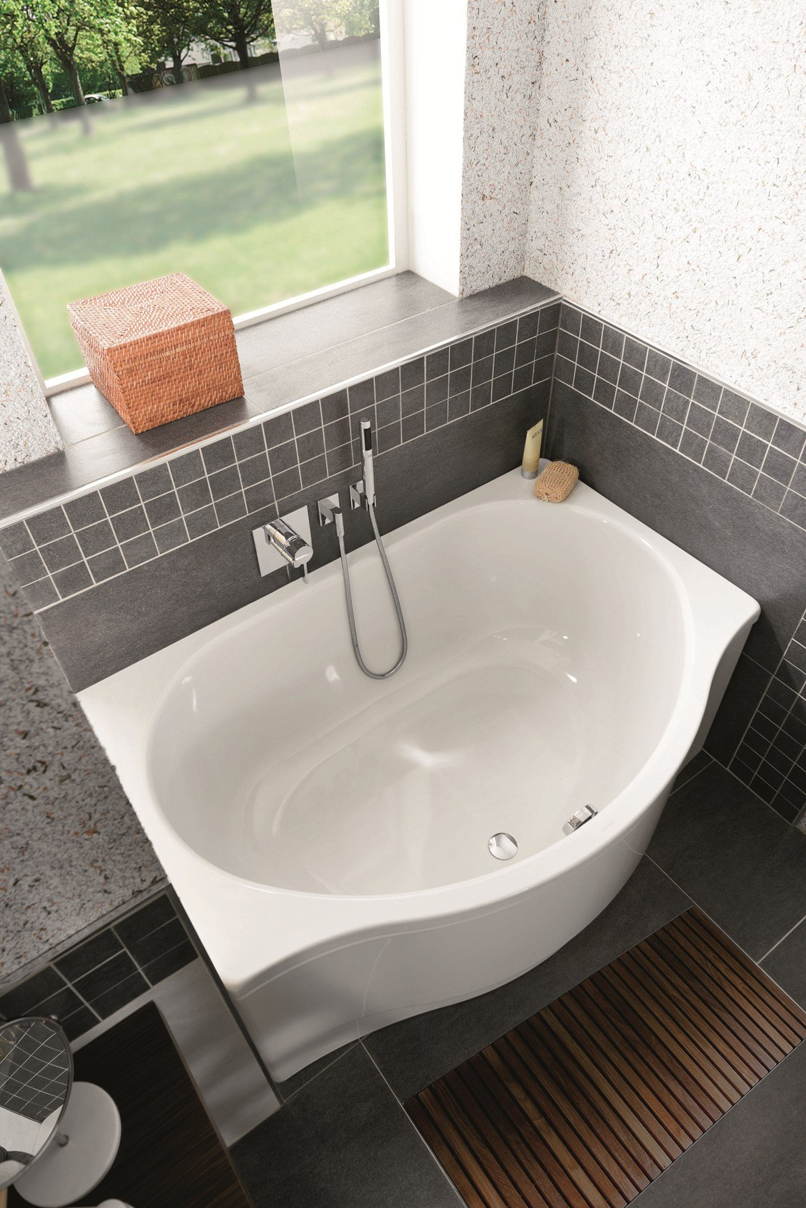 Vasche da bagno e piatti doccia a filo pavimento kaldewei - Vasche da bagno piccole con seduta ...