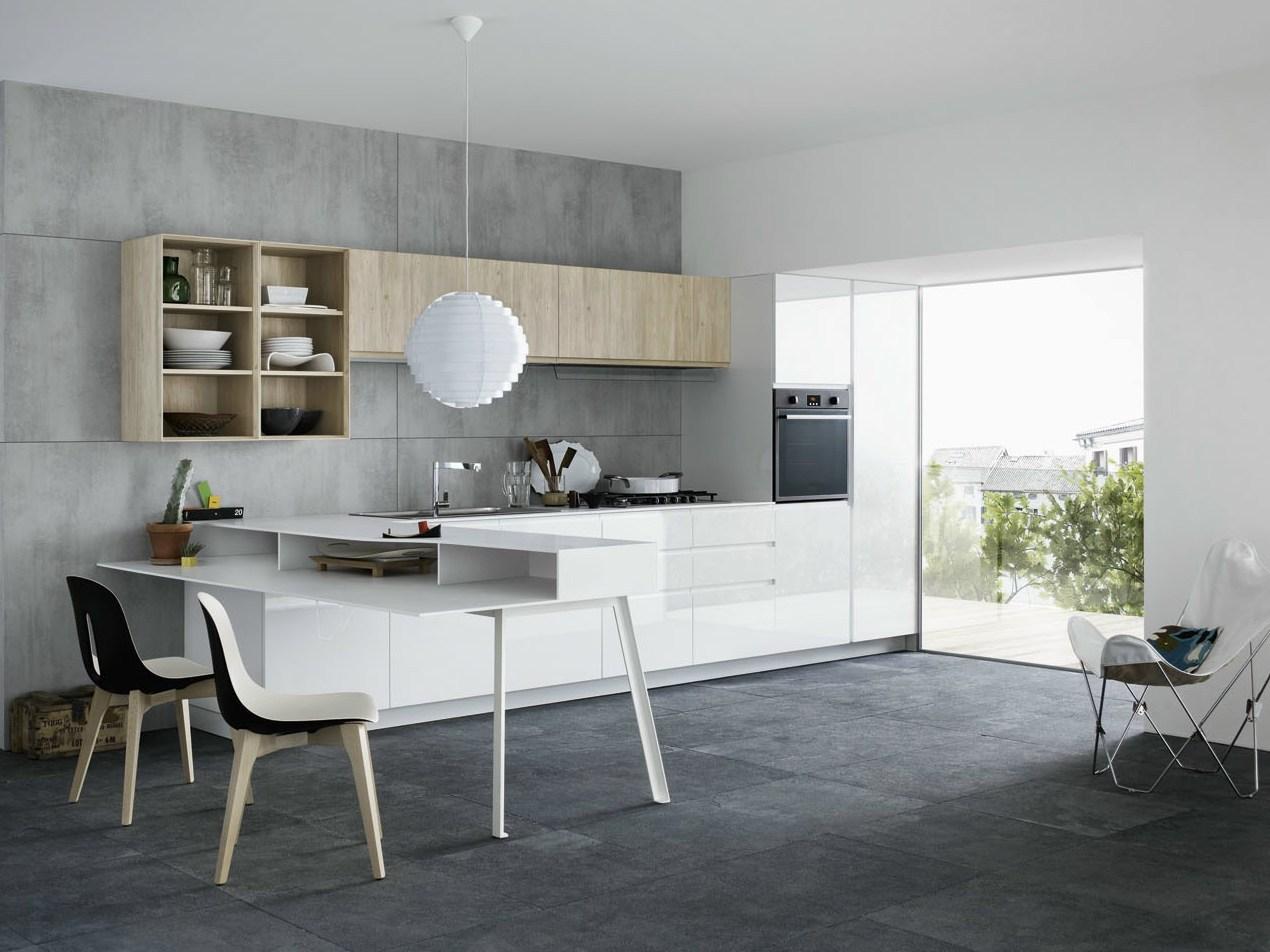 Mila cemento e legno di larice per l 39 ambiente cucina - Legno per cucina ...