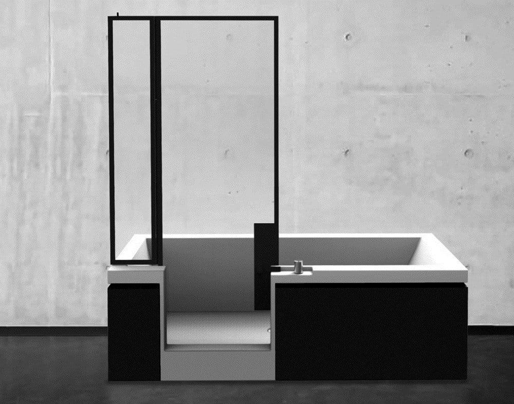 Vasca doccia finestre parigine suggeriscono l 39 idea - Wilmotte design ...