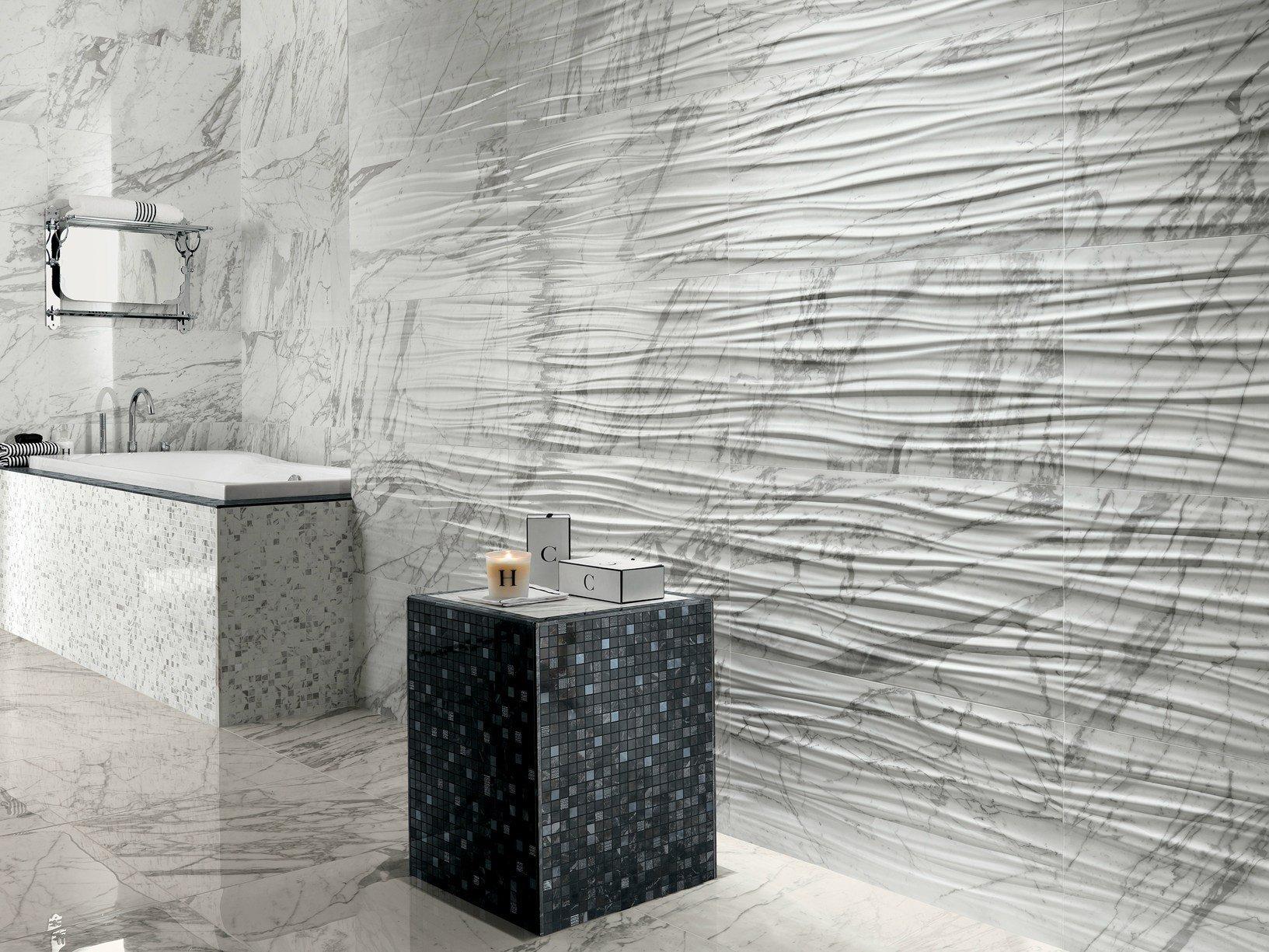 Marvel pro il gres porcellanato effetto marmo by atlas - Rivestimento bagno effetto marmo ...