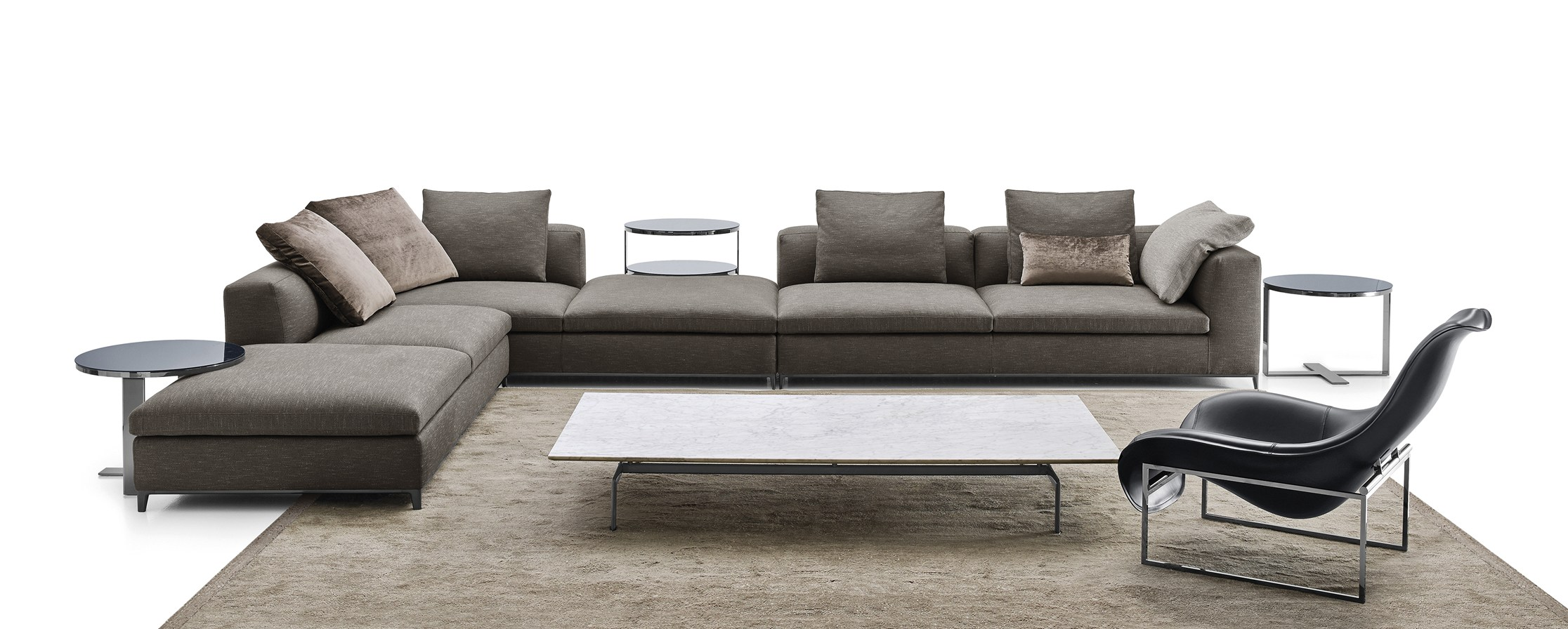 b b italia e maxalto a icff. Black Bedroom Furniture Sets. Home Design Ideas