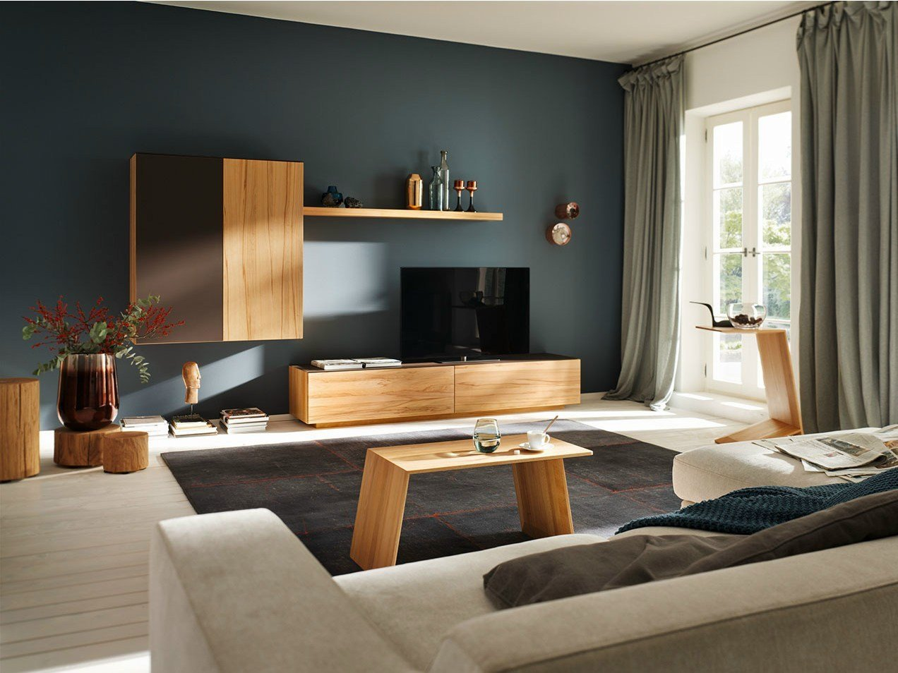 i sistemi team 7 per il living e l home cinema. Black Bedroom Furniture Sets. Home Design Ideas