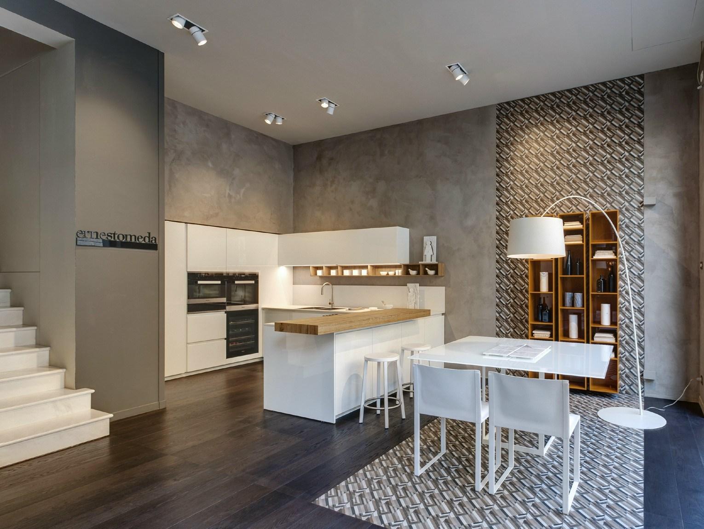 Tinte naturali e soft per il nuovo spazio ernestomeda a milano for Nuovo spazio arredamenti