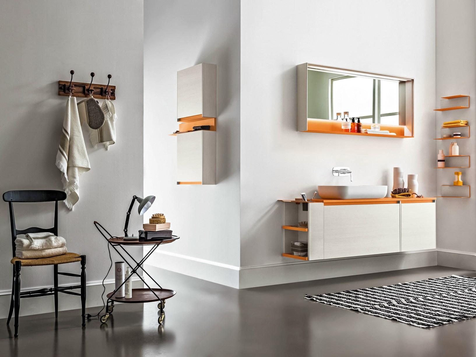 Soluzioni Piastrelle Bagno.Piastrelle Bagno Arancione Piastrelle Cucina Idee E