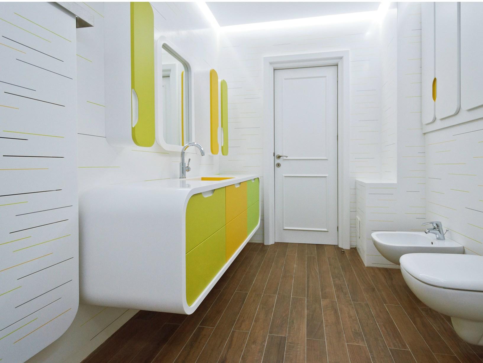 salle de bain vert pistache. Black Bedroom Furniture Sets. Home Design Ideas
