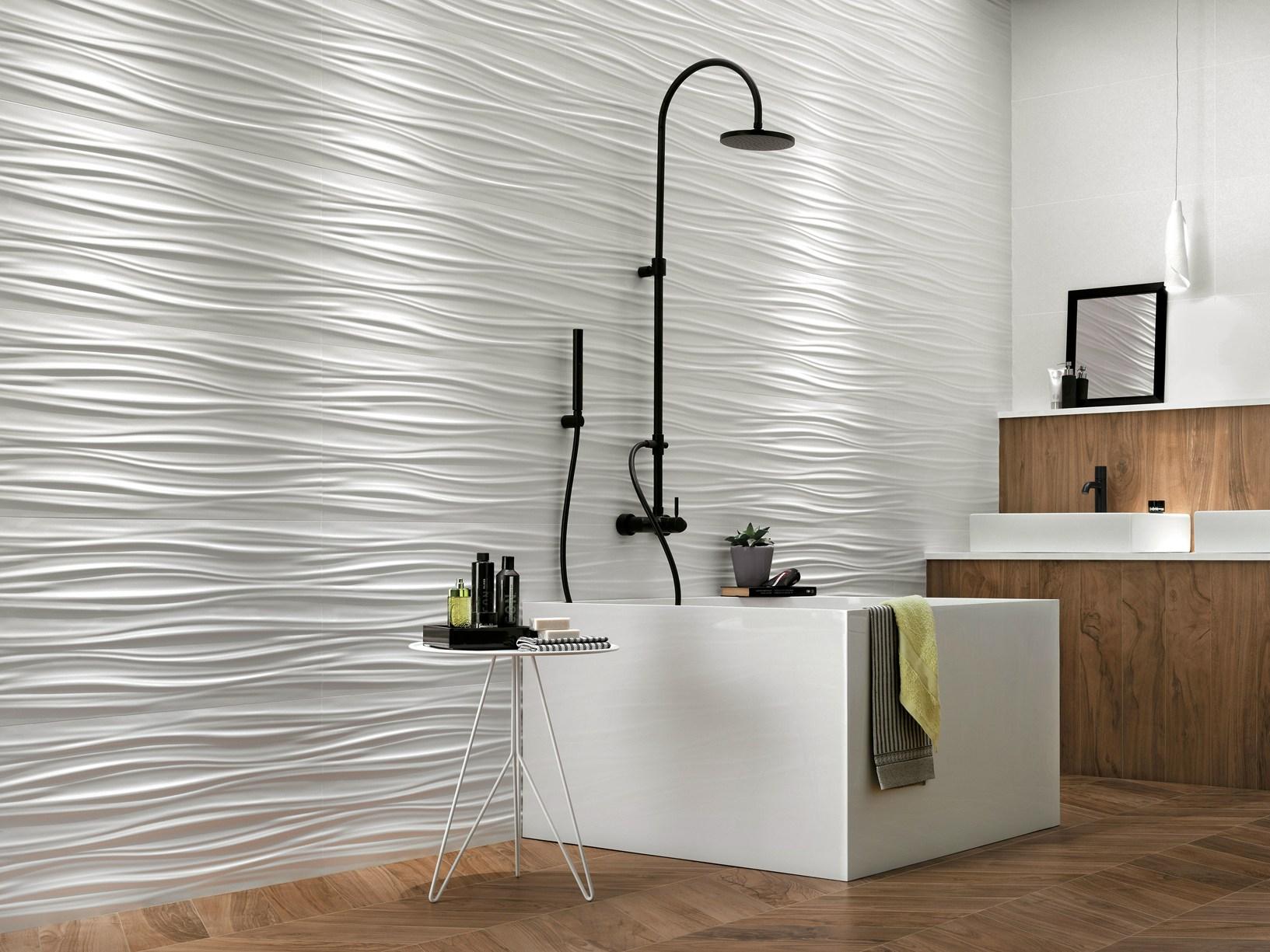 Pareti scultoree in ceramica - Progettare bagno 3d ...