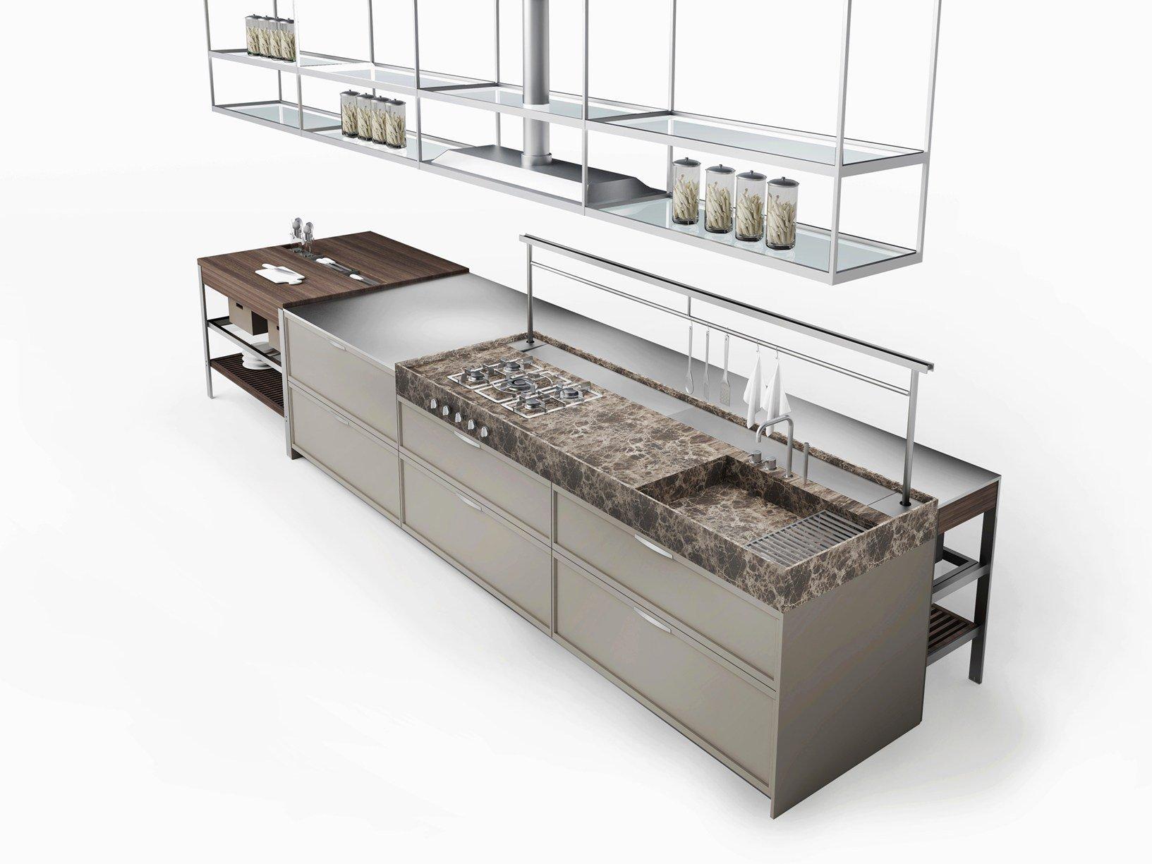 la cucina si ispira ai grandi banchi da lavoro industriali - Banco Da Lavoro Cucina