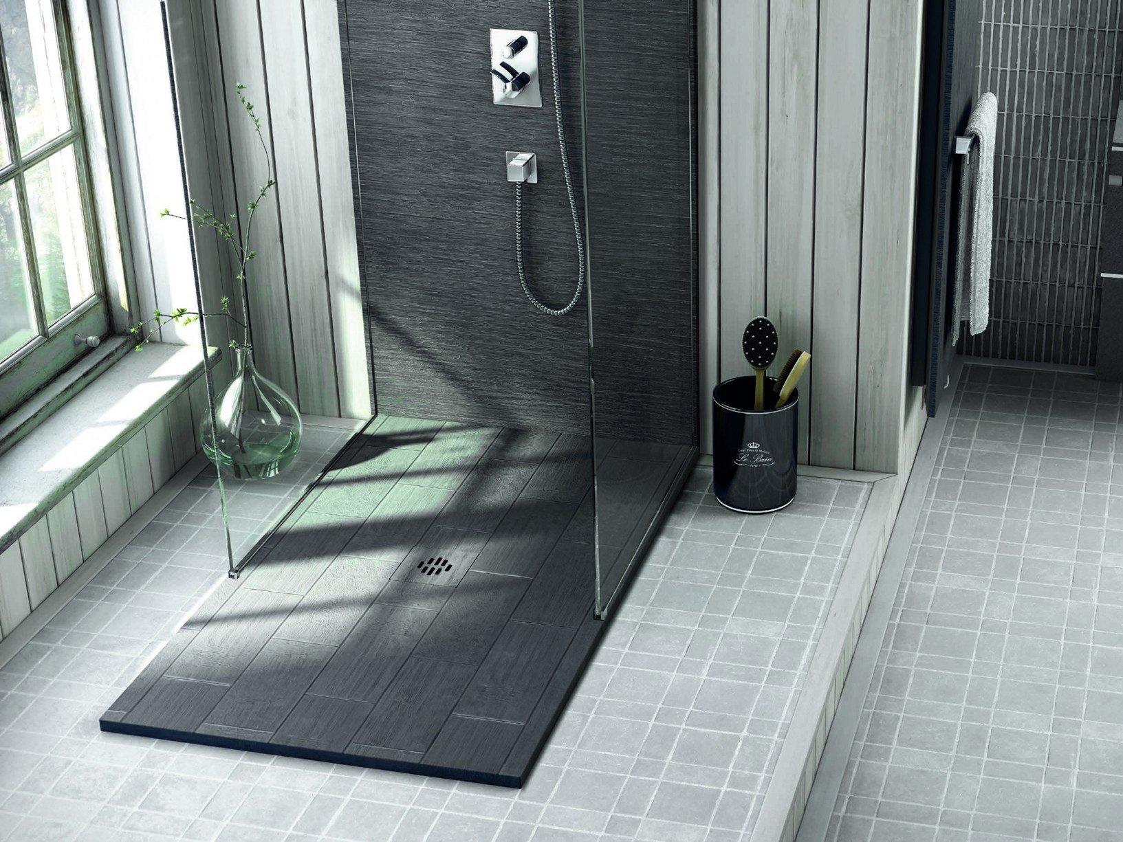 Piatto doccia effetto pietra for Piatto doccia pietra