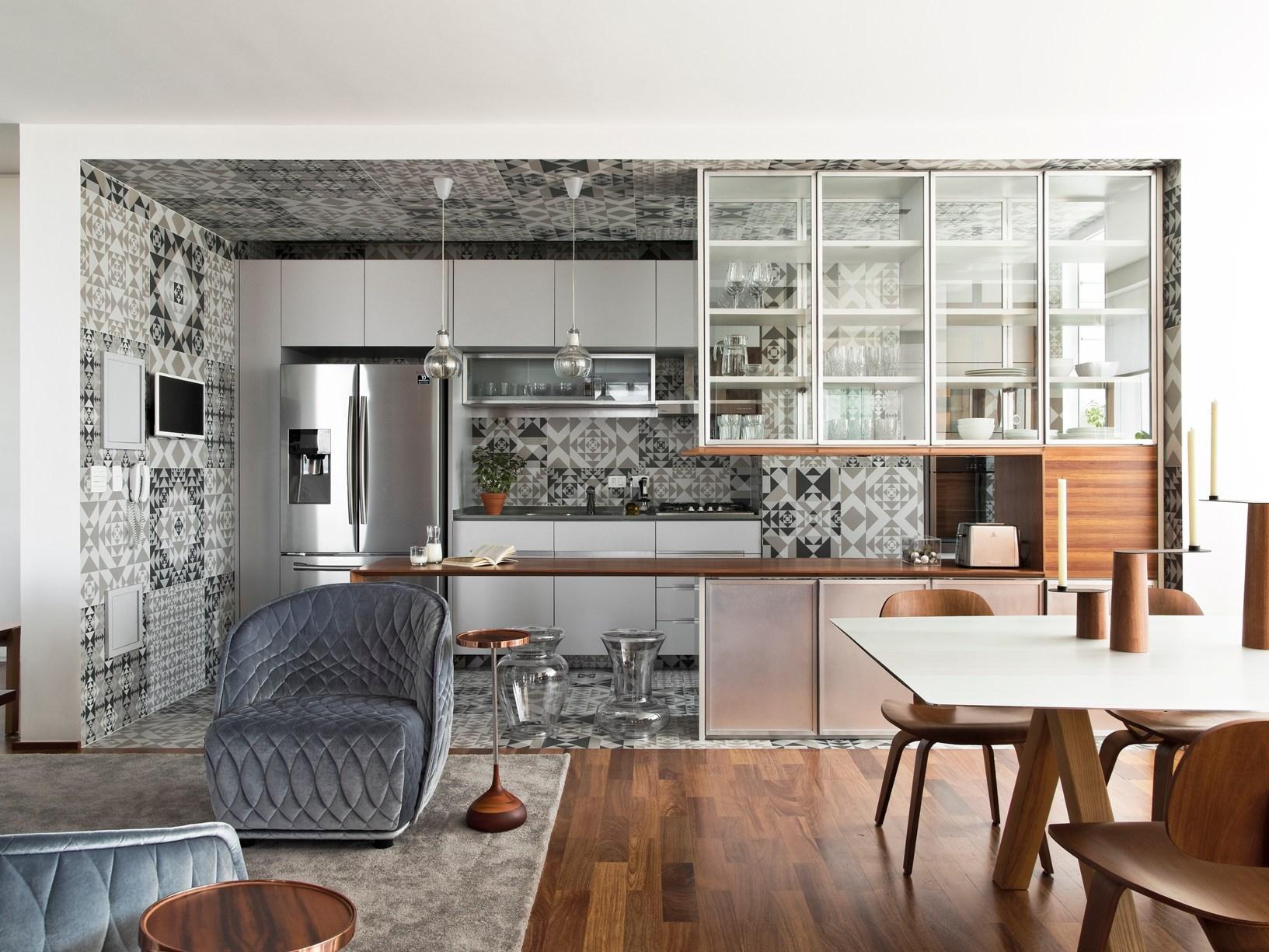 Audaci geometrie in cucina
