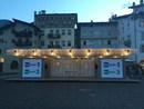 Padiglione per il Festival dell'Economia a Trento.