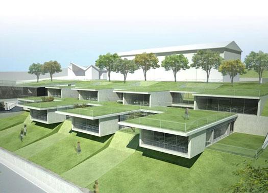 Terrazze giardino per il nuovo polo scolastico di sangemini - Giardino a terrazze ...