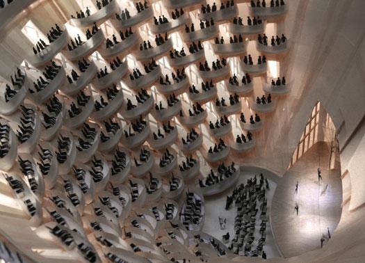 Teatro in legno di Cucinella a LAquila, forse finanziato dallAustralia