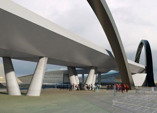 Milano il progetto di citterio e viel per il ponte dell for Antonio citterio architetto