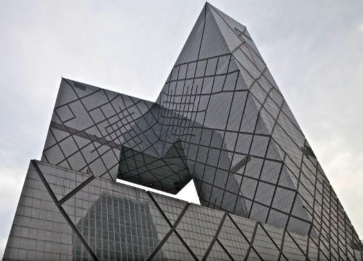 Terminata la sede della china central television a pechino for Architettura olandese