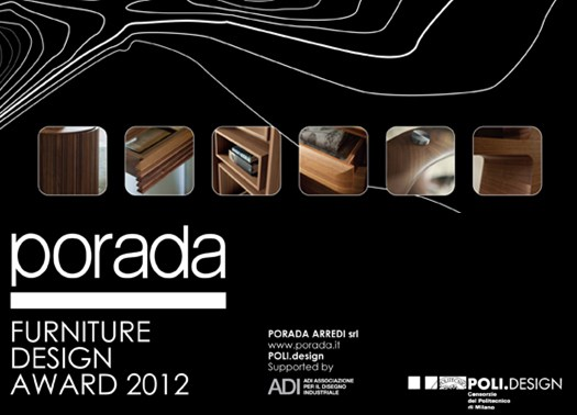 Porada furniture design award 2012 al via il concorso for Porada arredi