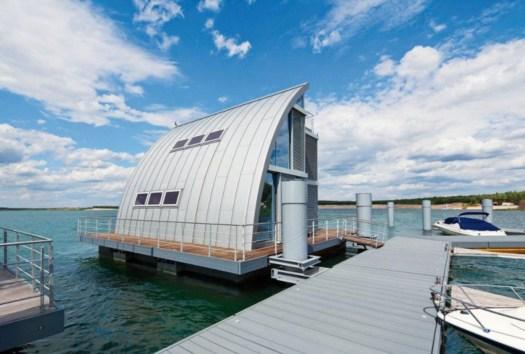 Prefa l architettura che galleggia sull acqua for Case contemporanee