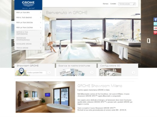 Home page sito Grohe