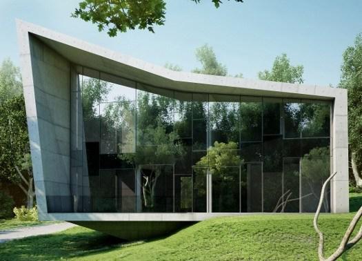 The edge house architettura minimalista in cemento e vetro for Case realizzate da architetti