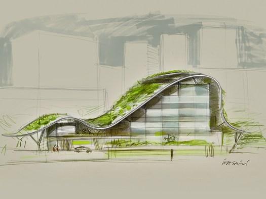 39 massimo iosa ghini architetto e designer 39 la mostra in for Progetti architettura interni