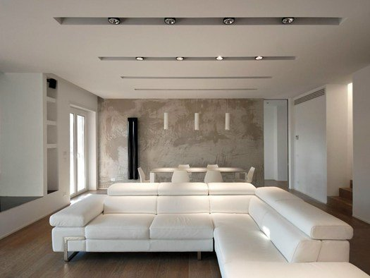 Bicuadro architects firma un nuovo attico a roma for Arredamento design roma
