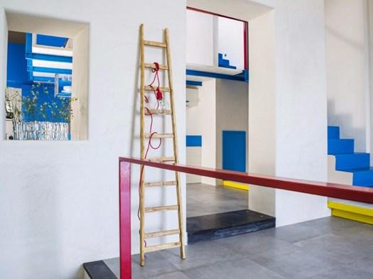 Isola di lipari: la casa 'mondrian style' disegnata dal colore ...