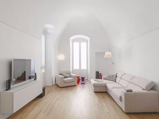 Look total white per il loft nel centro storico di gravina for Stili di fondazione di case