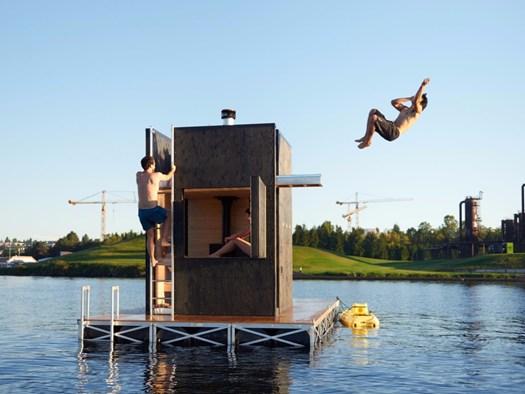 Un'idea di sauna oltre i confini della staticit