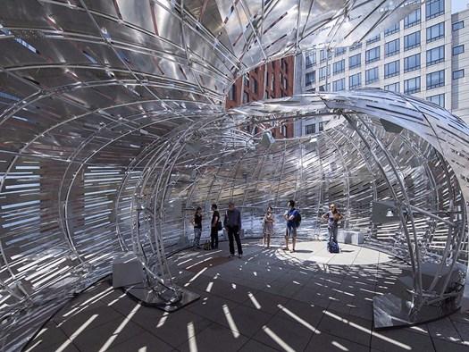 Nasa orbit pavilion un guscio per ascoltare i suoni dello for Design dello spazio esterno