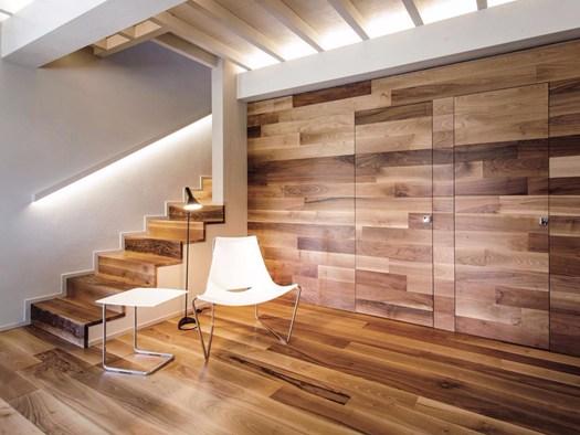 Rachele biancalani per la 39 first love 39 villa nella - Rivestire parete in legno ...