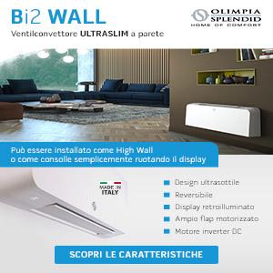 Ventilconvettore a parete ultraslim Bi2 Wall Olimpia Splendid