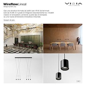 Vibia illumina con forme pure e lineari: Wireflow Lineal