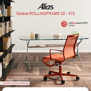 Sedute Alias Rollingframe 52, premiate Red Dot Design Award 2017